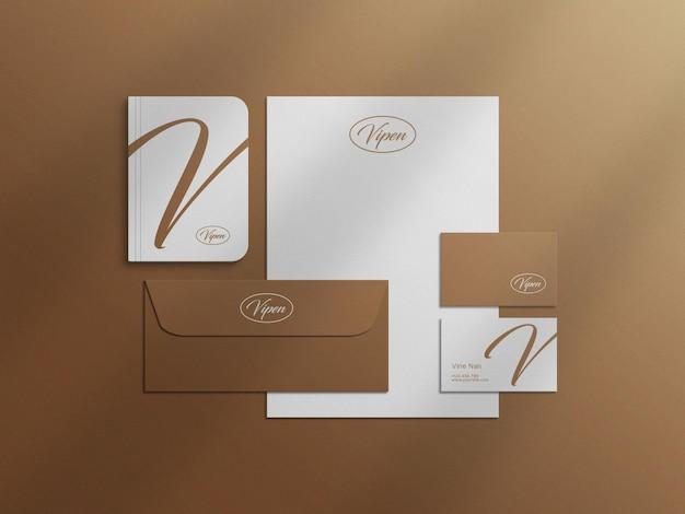 Minimale mockup-datei für das briefpapierdesign