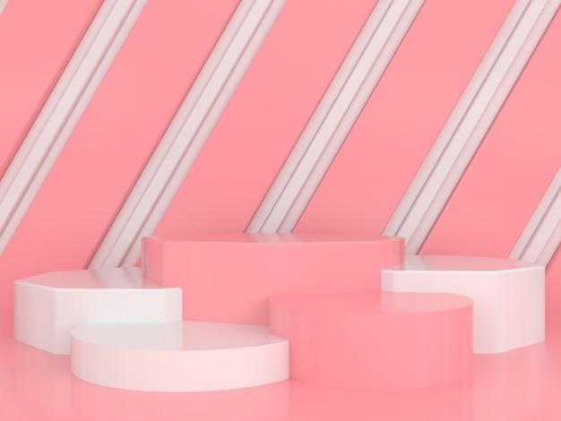 Minimale moderne stilkonzept der abstrakten geometrischen formpastellfarbe