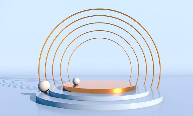 Minimale szene mit 3d-rendering der geometrischen formen