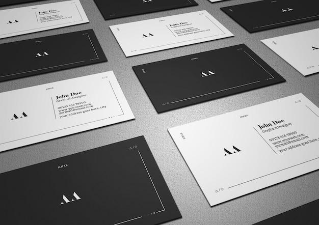 Minimale und dunkle gitter-visitenkarte