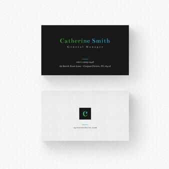 Minimale visitenkarte mit schwarzen details