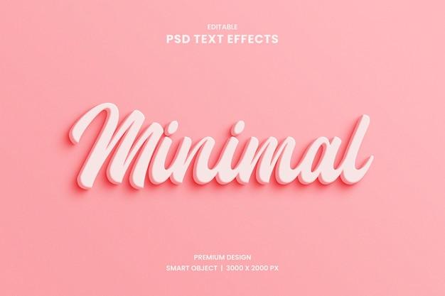 Minimaler 3d-texteffekt