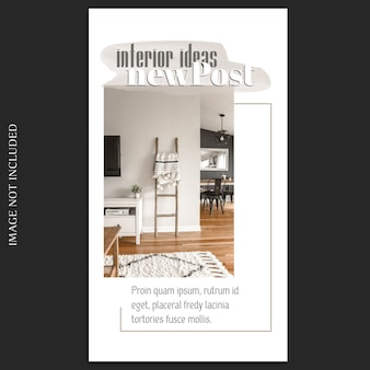 Minimaler fotomodell und instagram story-vorlage