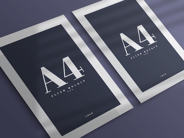 Minimales a4 flyer mockup design