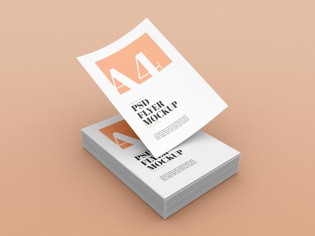 Minimales a4 flyer modell Premium PSD