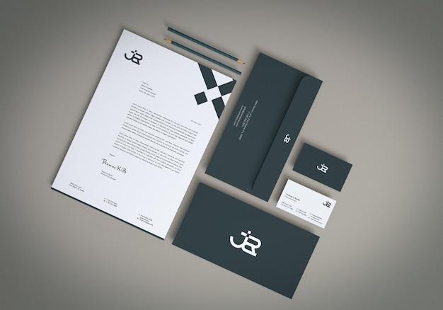 Minimales branding-briefpapier-mockup-design