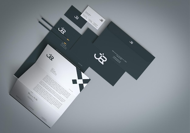 Minimales identitäts-branding-briefpapier-mockup