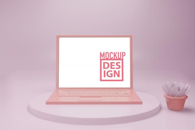 Minimales laptop-modell