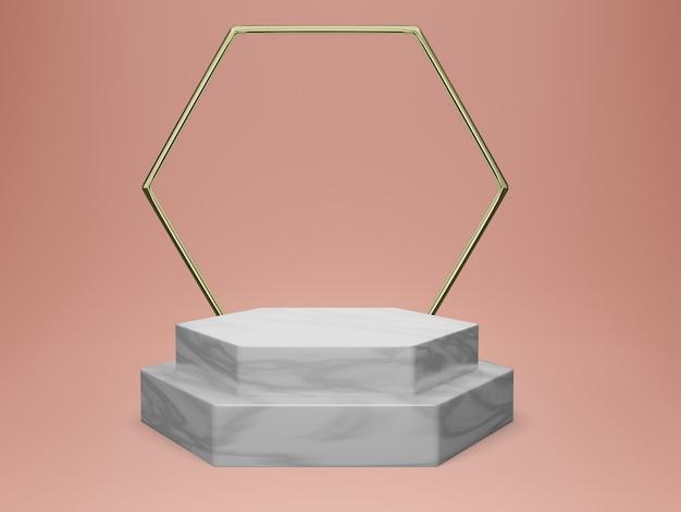 Minimales podium-modell für kosmetische darstellungen