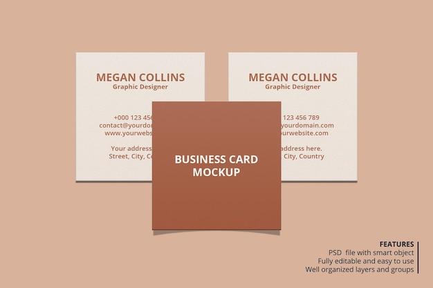 Minimales quadratisches visitenkarten-modelldesign