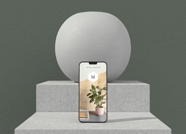 Minimales vasen- und telefonmodell