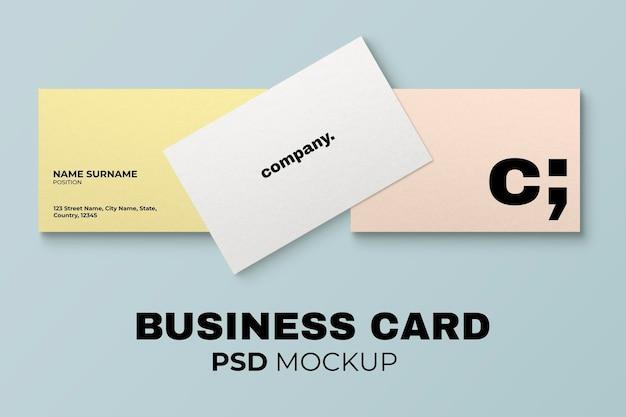 Minimales visitenkarten-mockup-psd in pastell