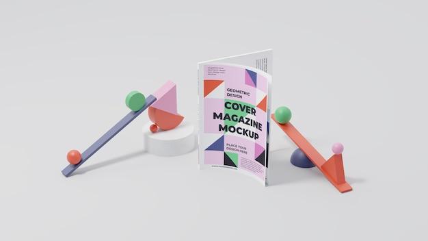 Minimalistische mock-up-komposition für zeitschriften