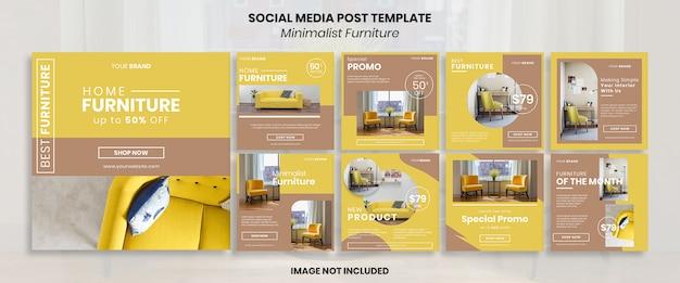 Minimalistische möbel social media post