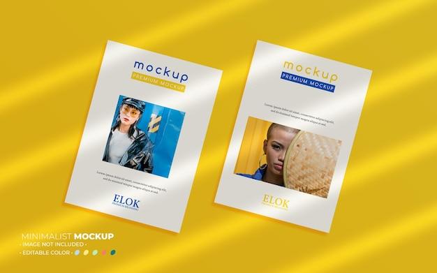 Minimalistische poster-set-modellkomposition mit überlagerungen
