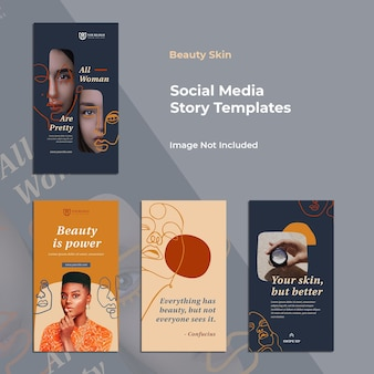 Minimalistische social media story-vorlage