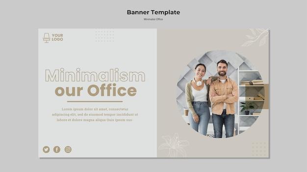 Minimalistischer büro-banner-stil