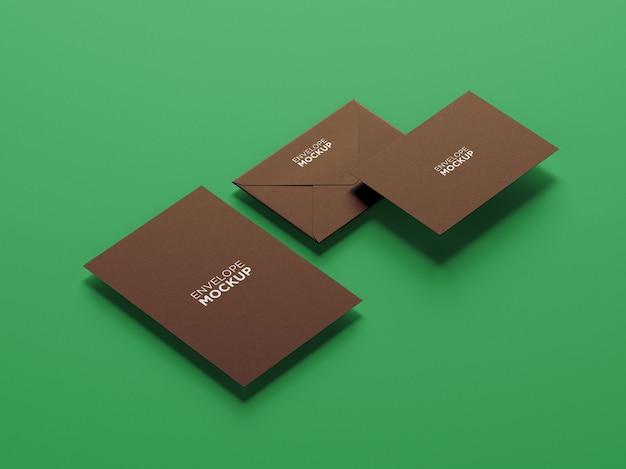 Minimalistisches briefpapiermodell der seitenansicht isoliert