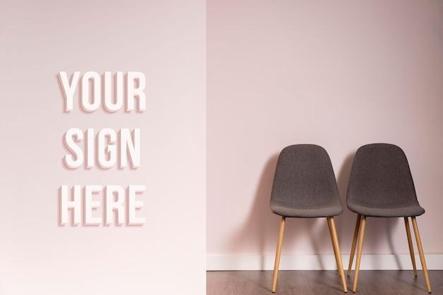Minimalistisches corporate branding-mock-up