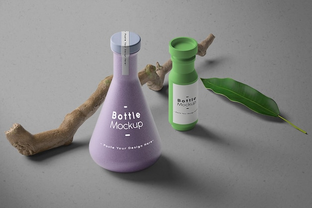 Minimalistisches flaschenmodell