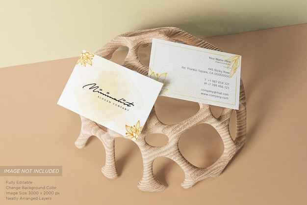 Minimalistisches kompositions-visitenkartenmodell