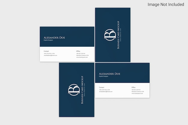 Minimalistisches landschafts-visitenkarten-modelldesign in 3d-rendering