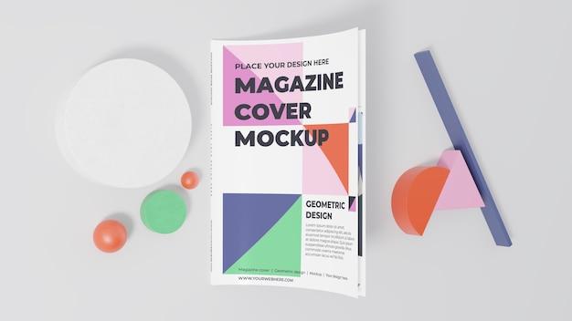 Minimalistisches magazin-mock-up-sortiment