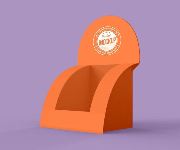 Minimalistisches orangefarbenes aussteller-modell