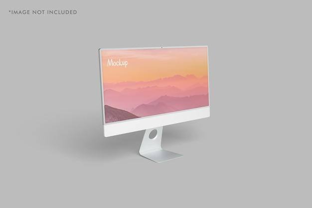 Minimalistisches pc-monitor-modell