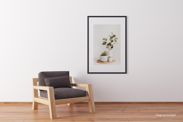 Minimalistisches porträtrahmenmodell