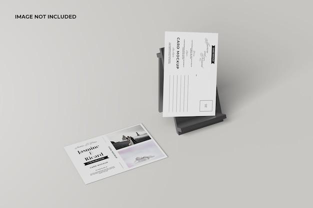 Minimalistisches postacard-modell