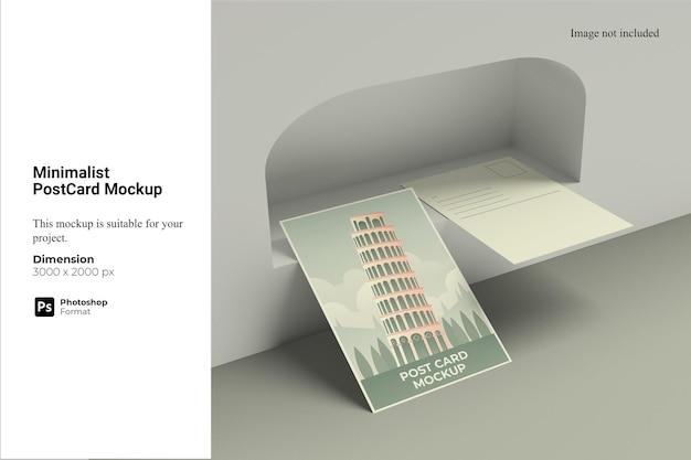 Minimalistisches postkartenmodell