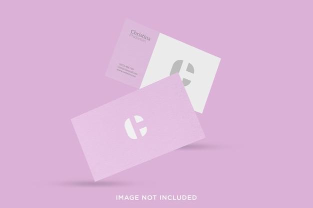 Minimalistisches schwebendes visitenkarten-modelldesign