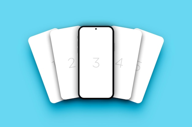 Minimalistisches smartphone-bildschirmmodell