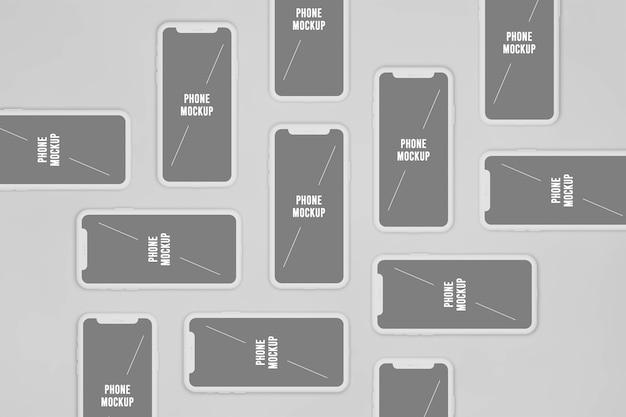 Minimalistisches smartphone-modell
