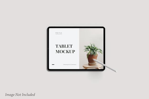 Minimalistisches tablet-bildschirmmodell premium psd