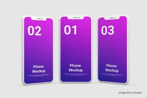 Minimalistisches tontelefonmodell isoliert