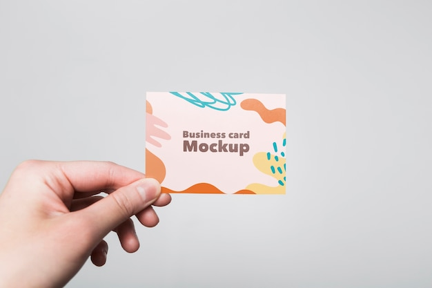 Minimalistisches visitenkartenmodell