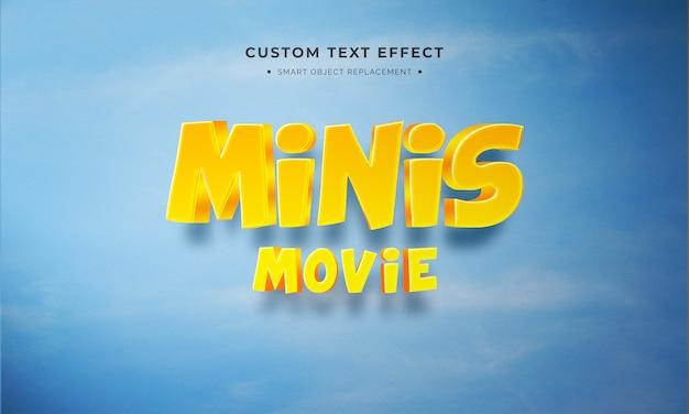 Minis 3d textstil