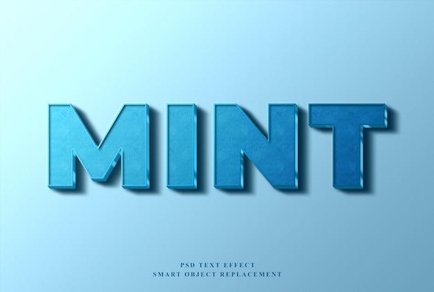Mint text effekt