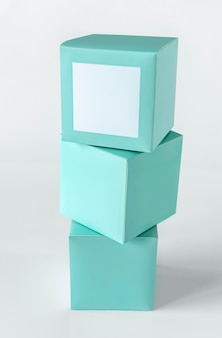 Mintgrünes verpackungskastenmodell