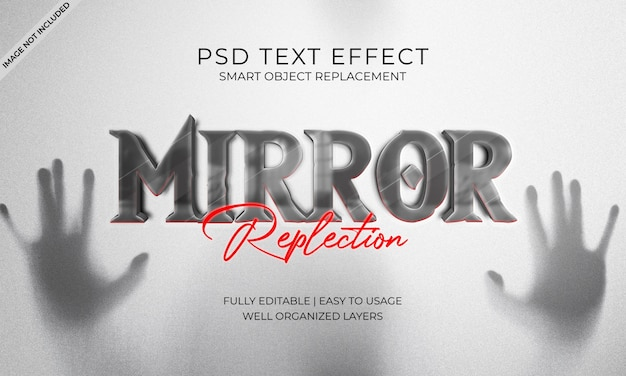 Mirror replection text effect