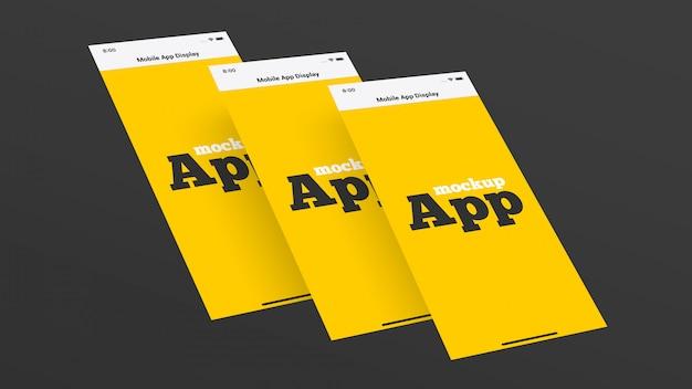 Mobile app display mockup