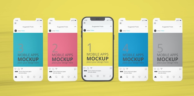 Mobile display apps mockup