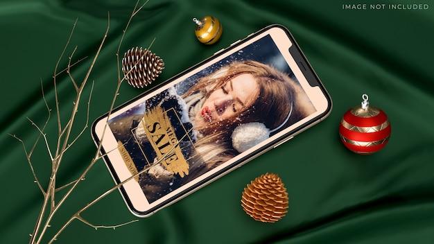 Mobile smartphone mockup für die markenidentität