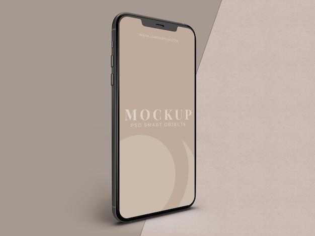 Mobile smartphone-mockup-vorlage für das globale geschäft mit markenidentität