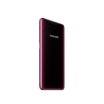 Mobiles modell mit lila rücken