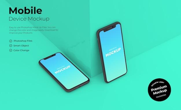 Mobiles modelldesign isoliert