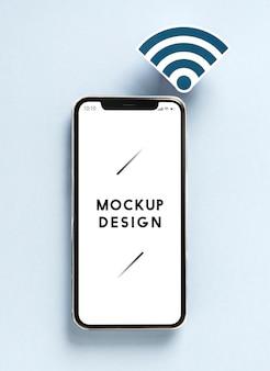 Mobiltelefon mit wifi-symbol