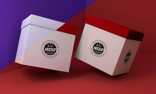 Mock-up-anordnung für verpackungsboxen